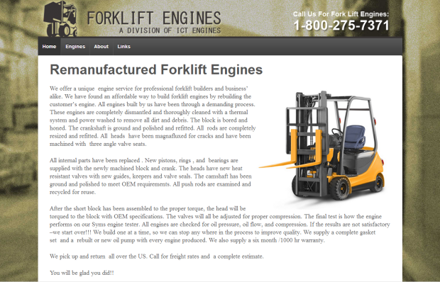 Fork Lift Engines